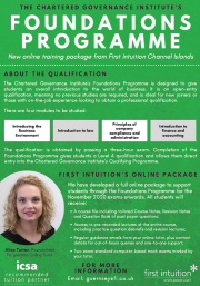 Foundations Programme - Chartered Governance Institute