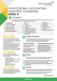 Level 4 Apprenticeship Factsheet Thumbnail