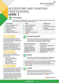 Level 7 Apprenticeship Factsheet Thumbnail