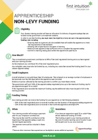 Non Levy Funding Factsheet Thumbnail