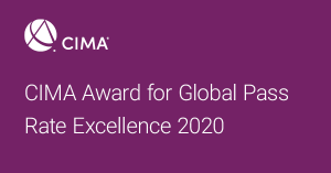 Winner of CIMA Award for Global Pass Rate Excellence